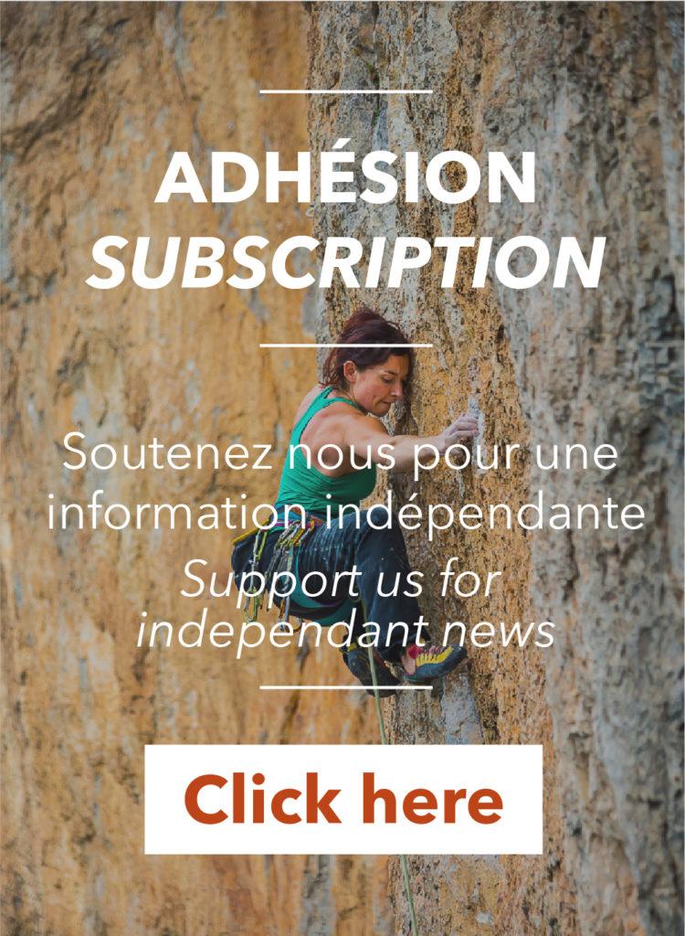 Sonia grimpe, image pour le lancement de l'association