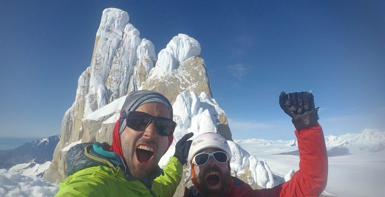 Sean Villanueva et Nico Favresse au sommet d'El Flechazo