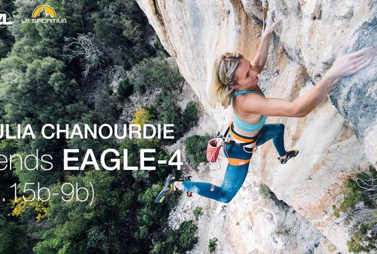 Julia Chanourdie dans Eagle-4 9b à St-Léger du Ventoux